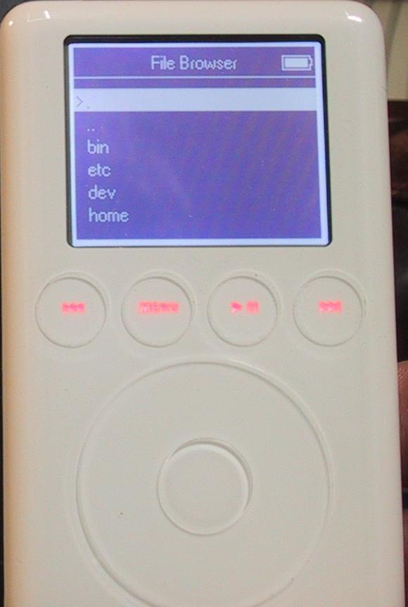 iPod-Linux mit grafischer Benutzeroberfläche