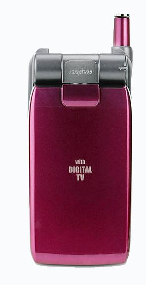 Sanyo stellt Handy-Prototyp mit digitalem TV-Empfang vor