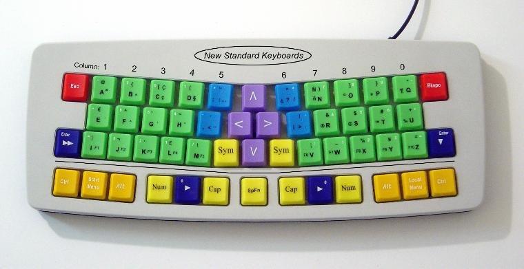 Neue Standard-Tastatur mit 53 Tasten
