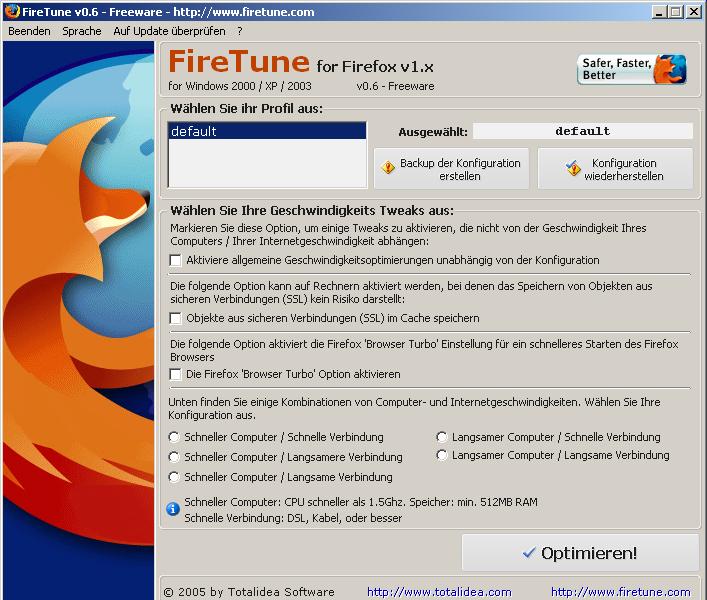 FireTune: Kostenloser Firefox-Turbo in Deutsch erschienen