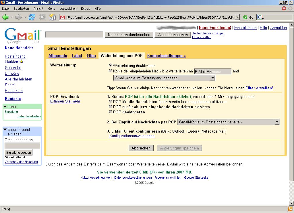 Gmail: Atom-Feeds informieren über neue E-Mails