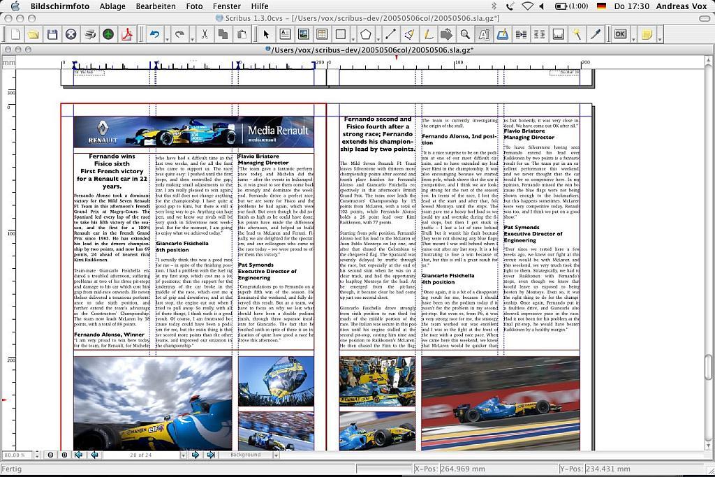 Scribus 1.3: Freie DTP-Software auch für Windows und MacOS X