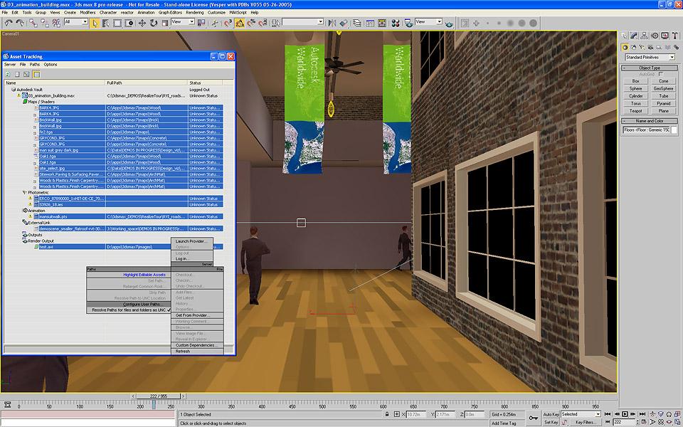 Autodesk zeigt 3ds Max 8 auf der Siggraph 2005