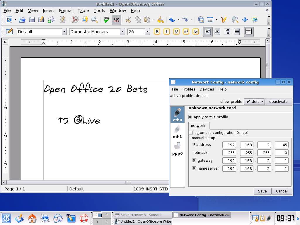 T2 @live 2.2.0-delta: Linux-Live-CD mit X11R7