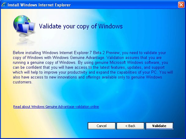 Internet Explorer 7 Beta 2 in deutscher Sprache fertig