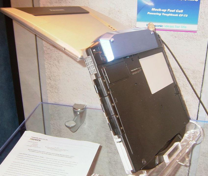 Panasonic: Kompakte Brennstoffzelle samt Akku für Notebooks