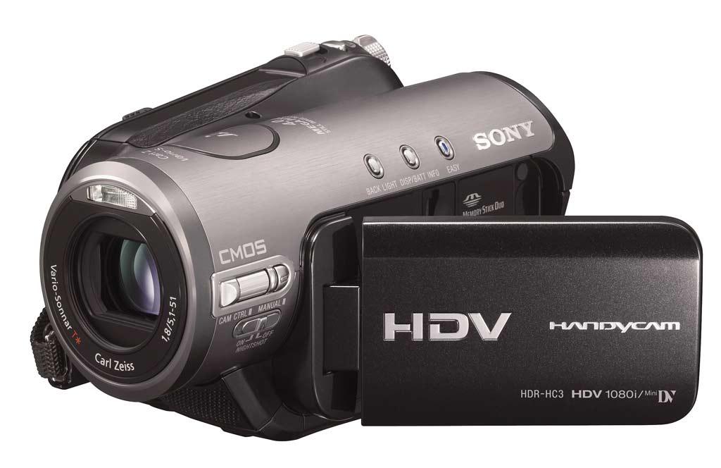 500 Gramm: Sonys neuer HDV-Camcorder mit 1080i