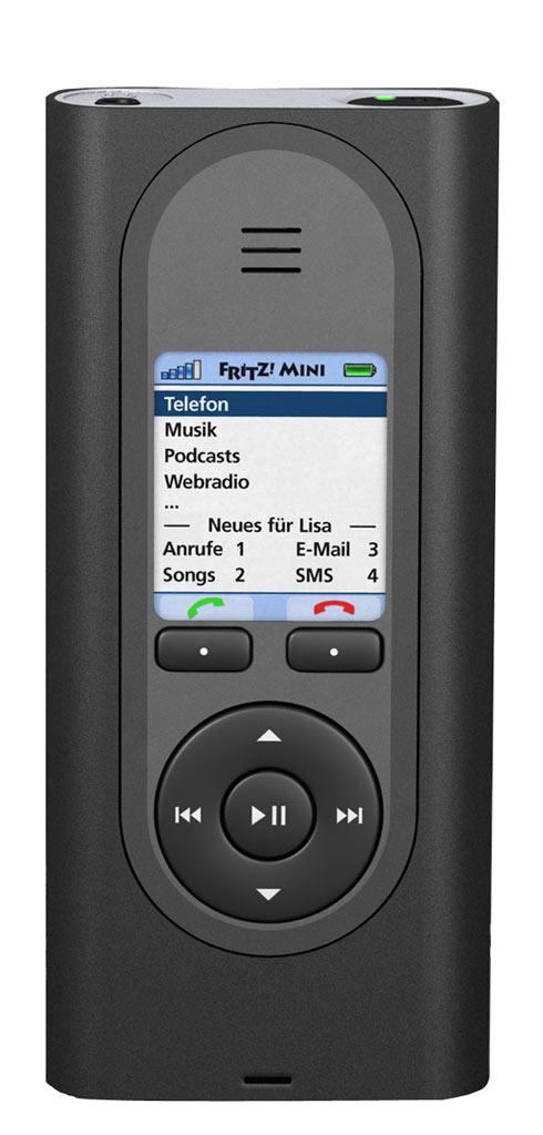 Tragbarer Musikspieler von AVM mit WLAN und Telefon