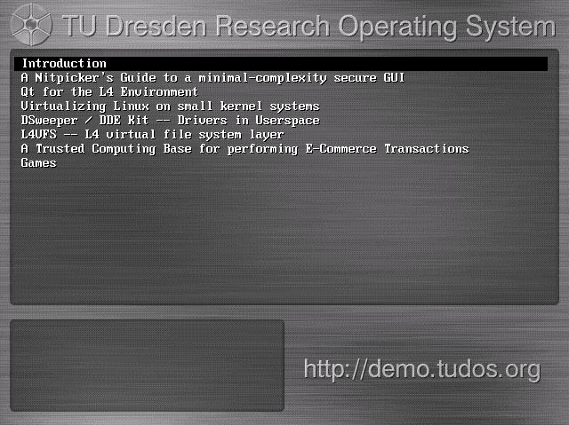 TU Dresden veröffentlicht Live-CD mit Mikrokernel
