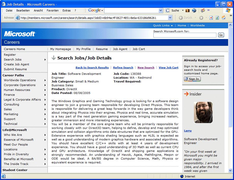 "Microsoft entwickelt ""Direct Physics"""