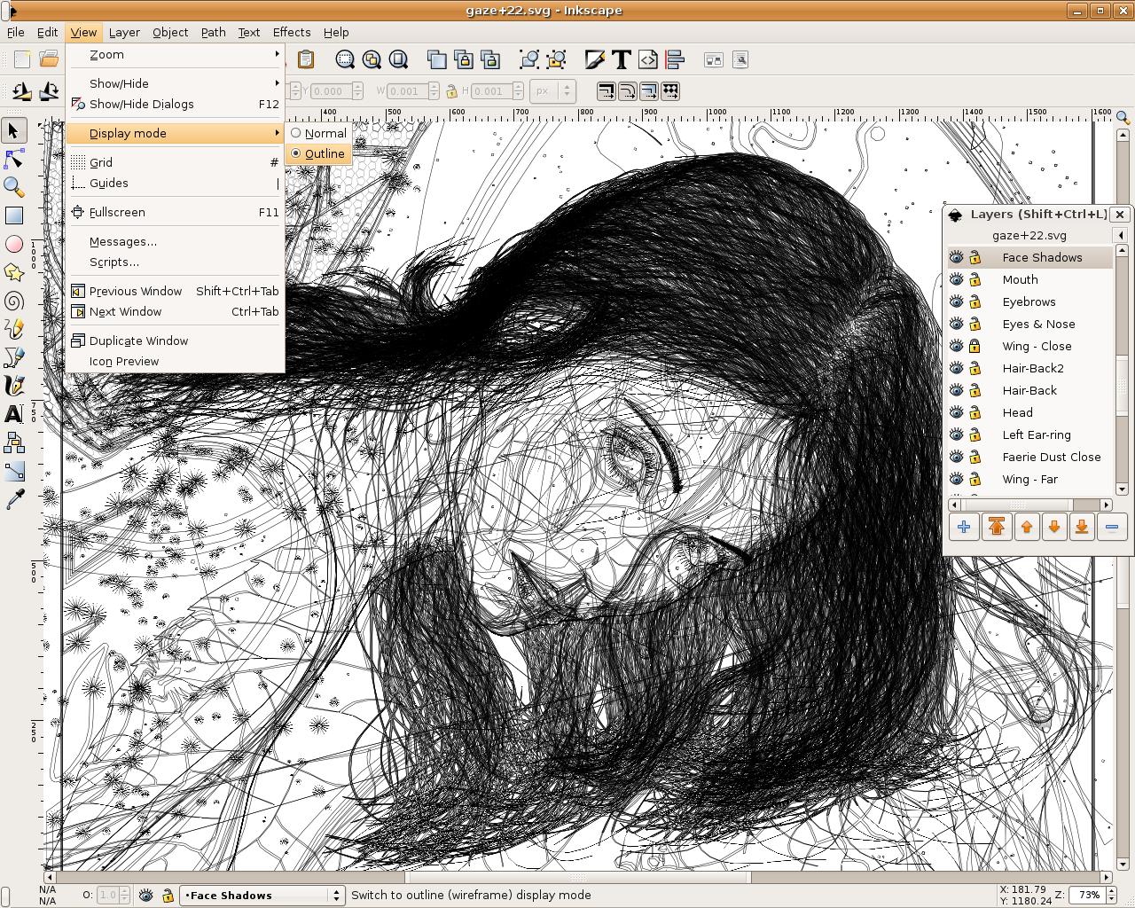 Freies Zeichenprogramm Inkscape 0 44 Erschienen Screenshots