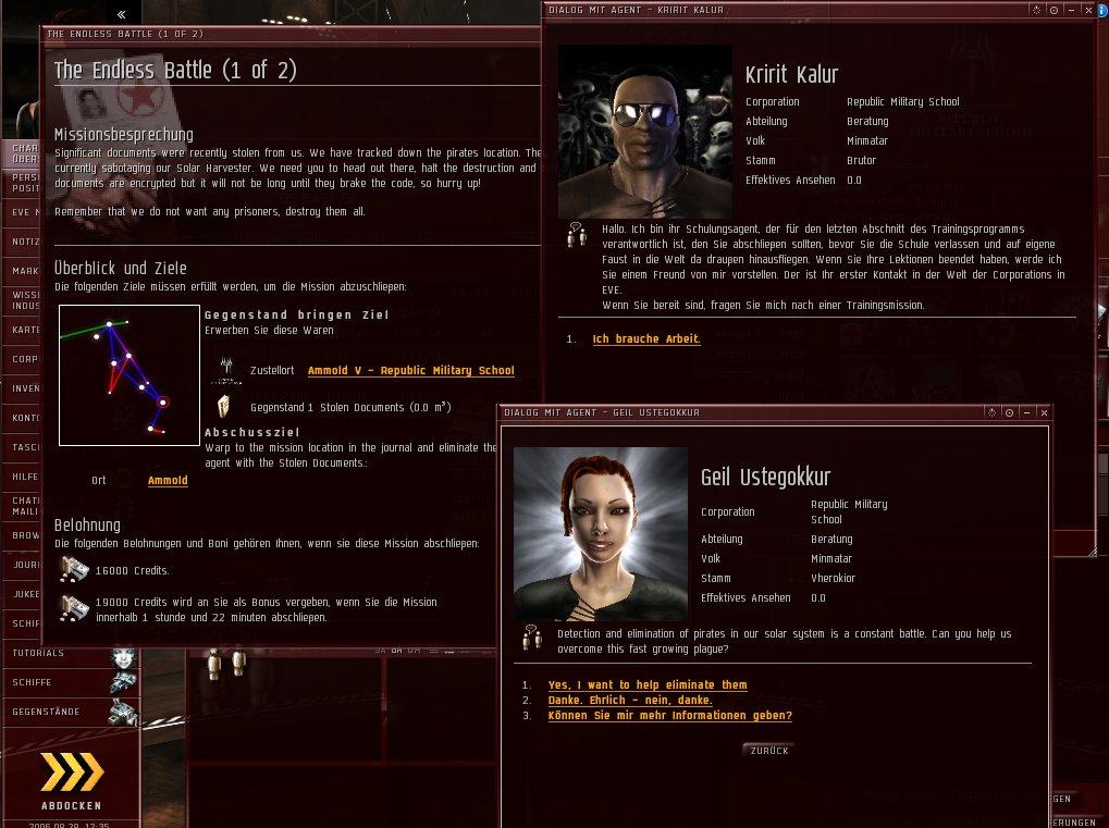 Deutscher Client für Eve Online und Kali-Add-On im September