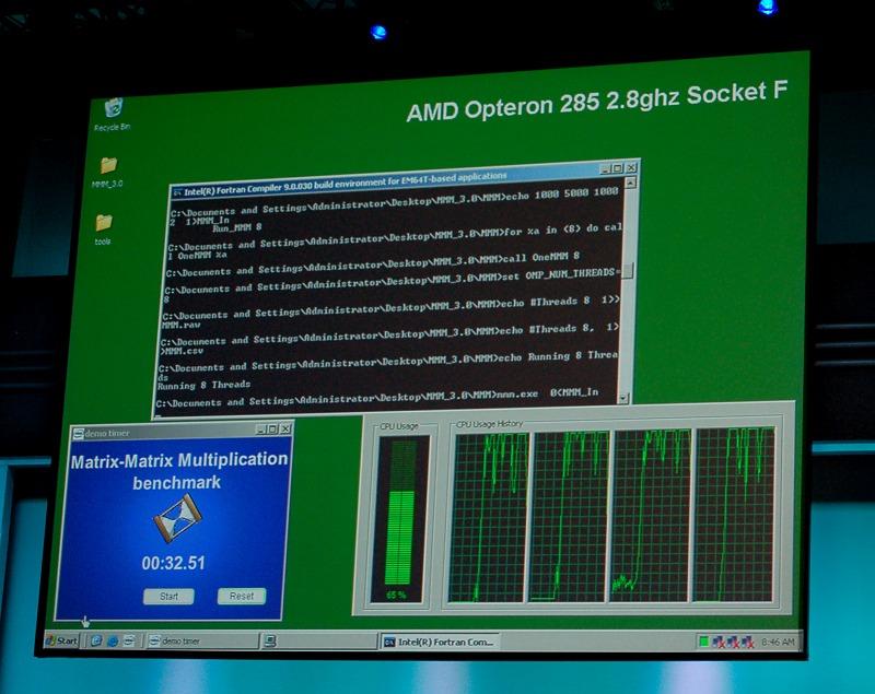 IDF: Neue Benchmarks Xeon gegen Opteron