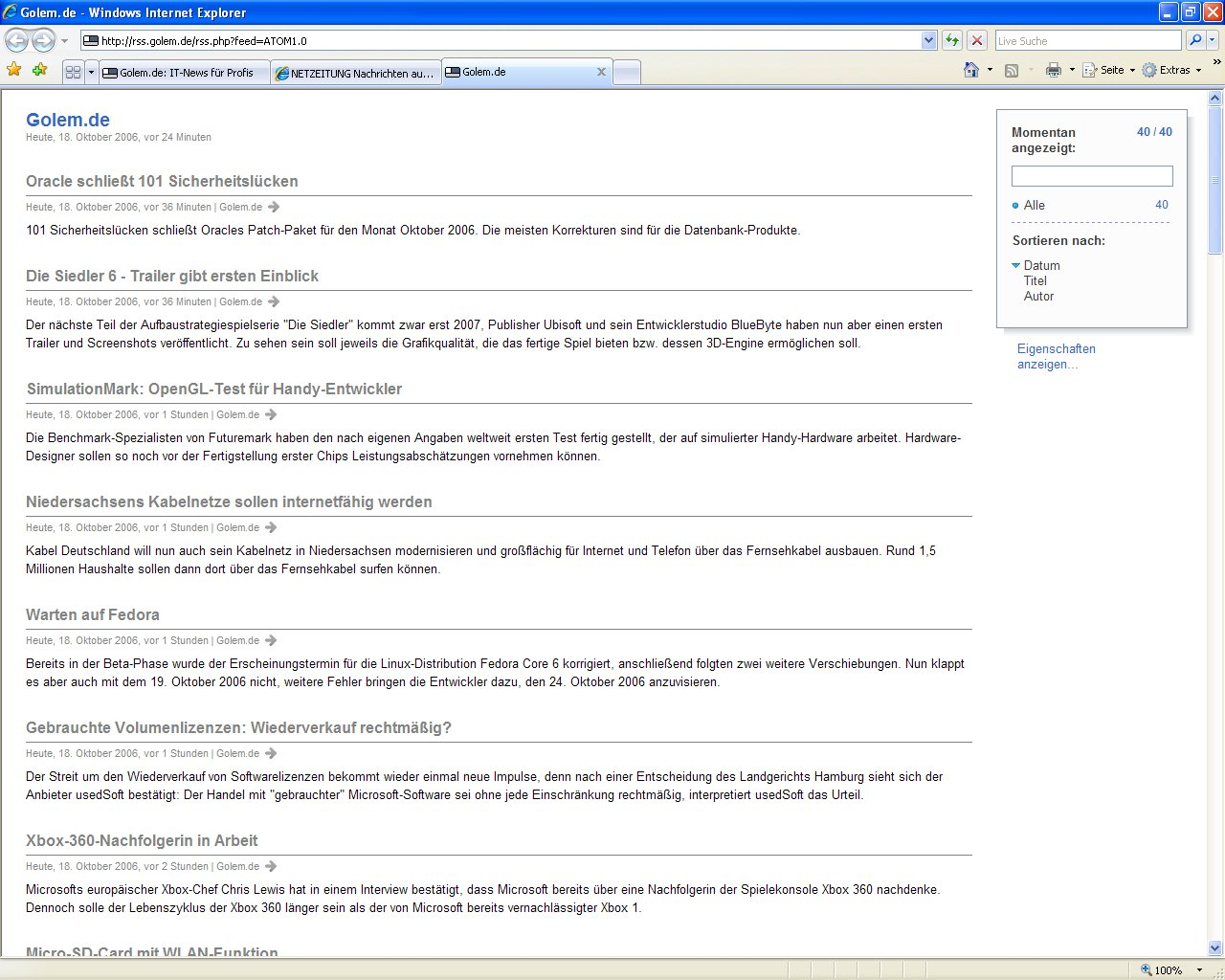 Internet Explorer 7 kommt nun automatisch