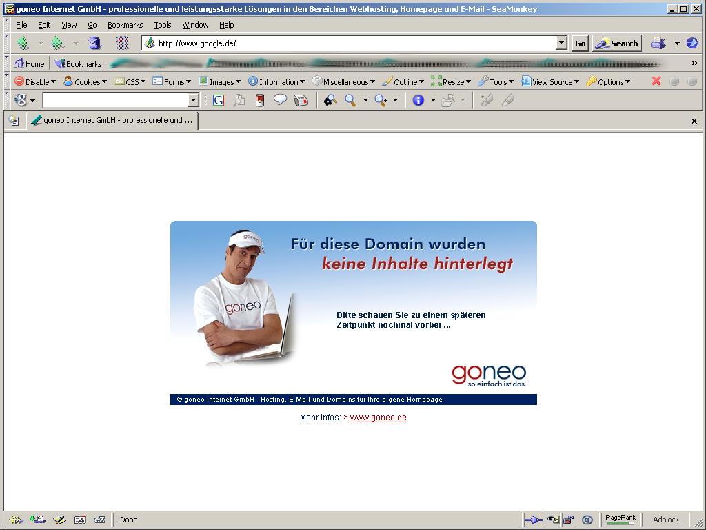 Deutsche Google-Domain wurde gekapert (Update)