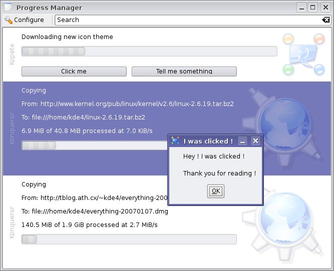 KDE 4 bekommt Fortschrittsüberwachung