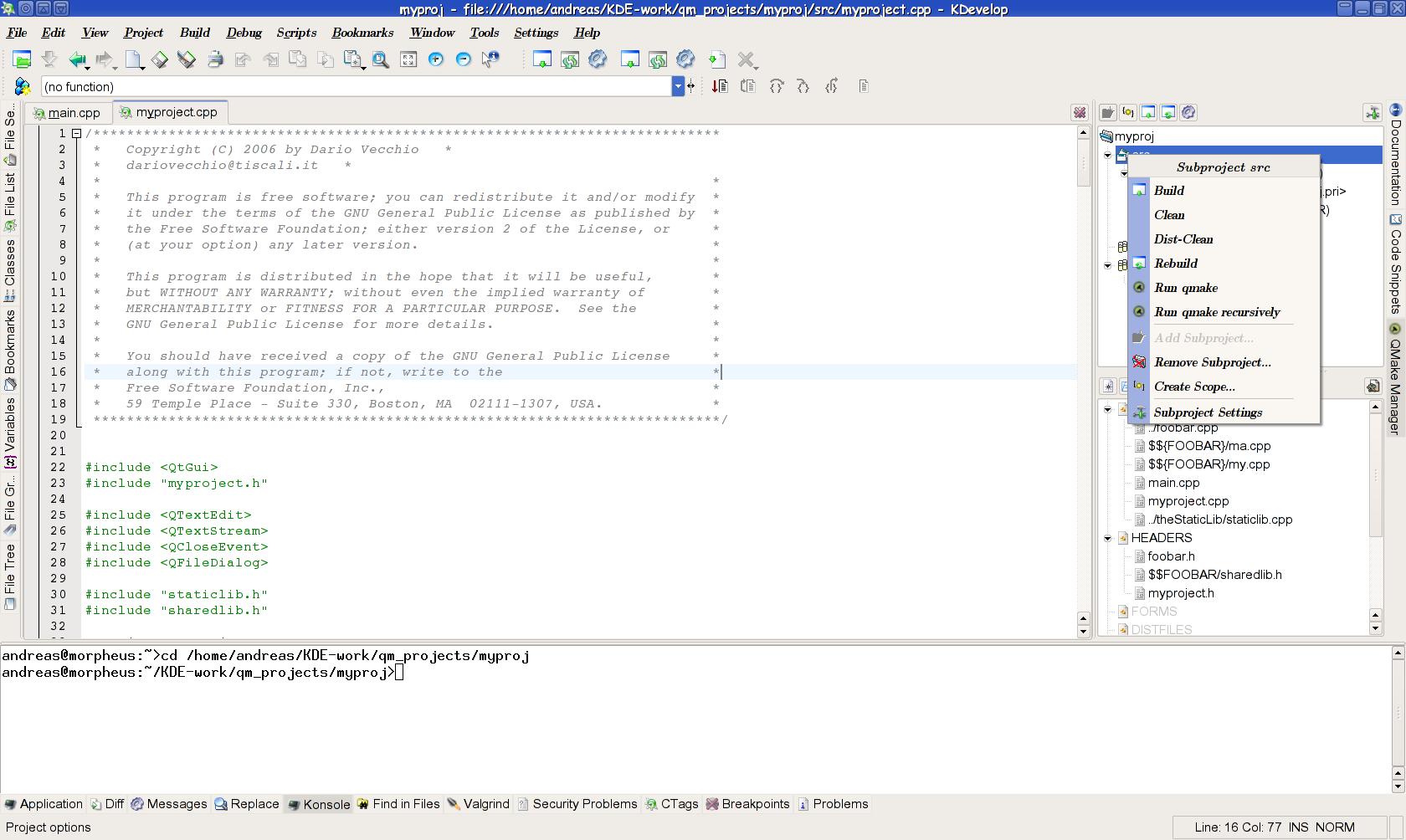 KDevelop 3.4 verbessert Qt4-Unterstützung