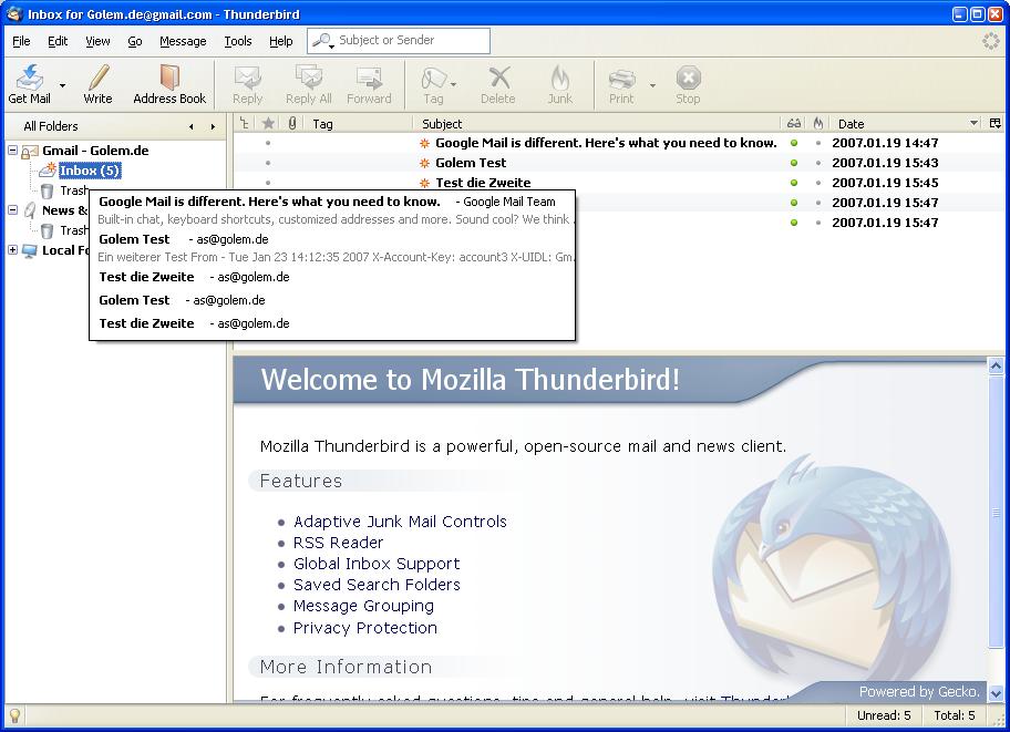 Thunderbird 2.0 ist fertig