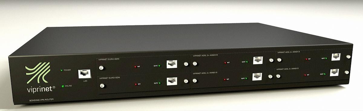 Statt Standleitung: VPN-Router bündelt 6 DSL-Anschlüsse