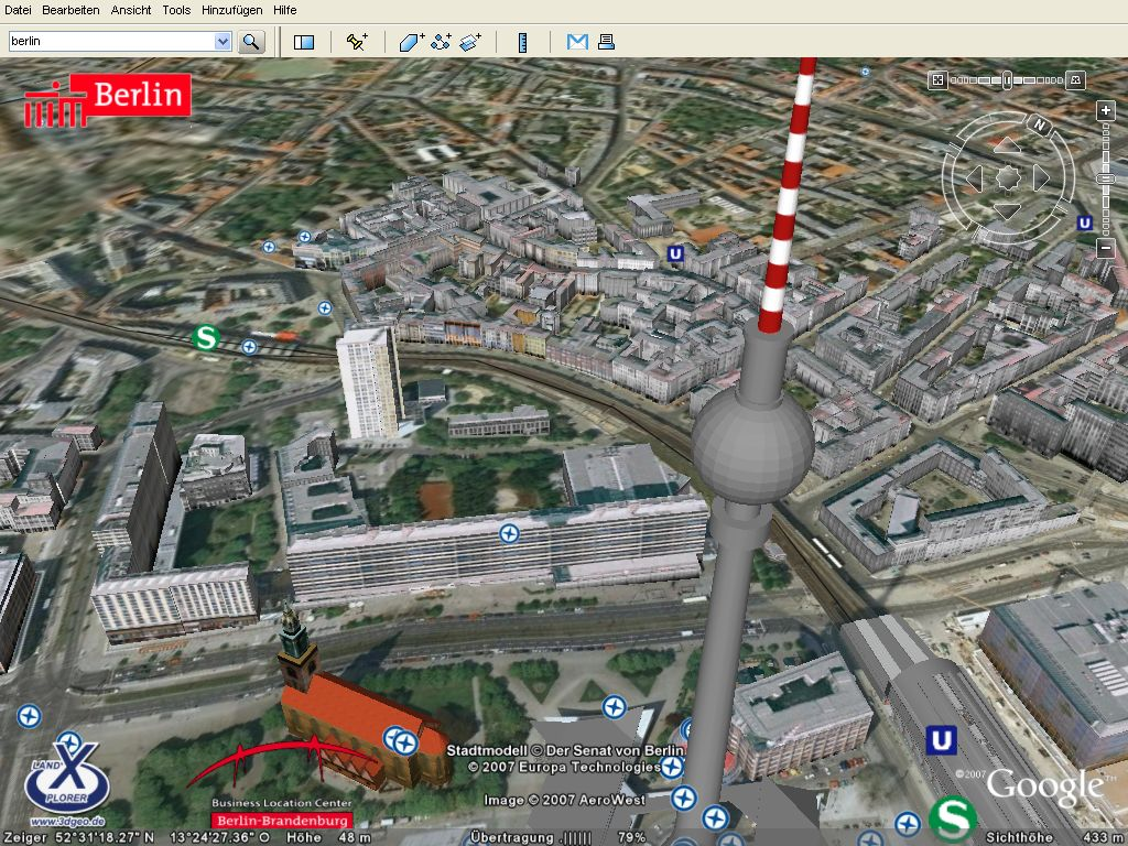 Google Earth Berlin In 3d Screenshots
