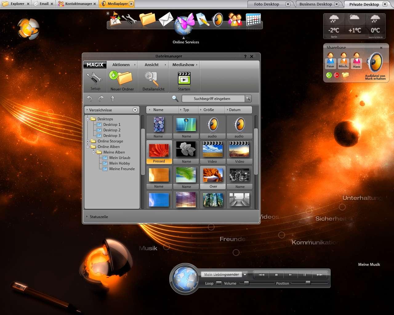 Magix myGoya: Online-Desktop als Flash-Anwendung
