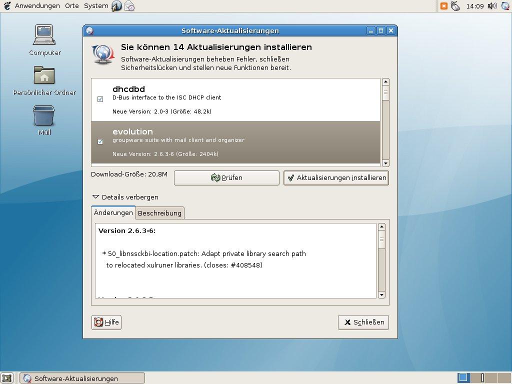 Wer welches Linux braucht - Softwareaktualisierungen installieren