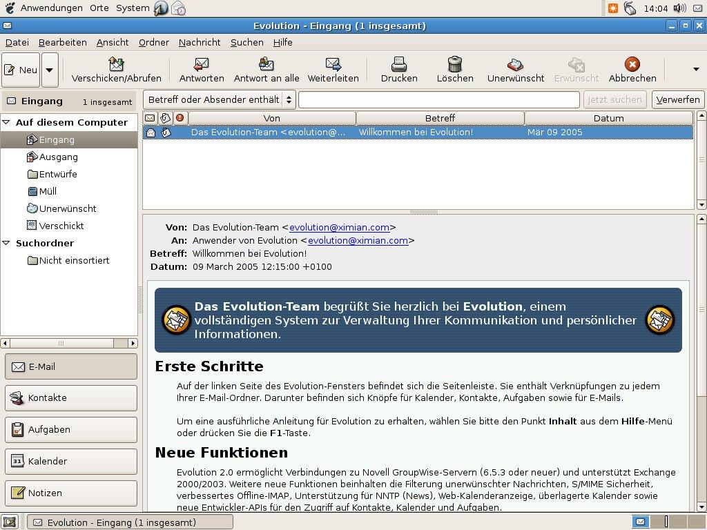 Wer welches Linux braucht - Evolution orientiert sich an Outlook