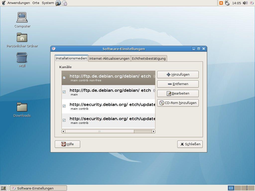 Wer welches Linux braucht - Repositorys konfigurieren