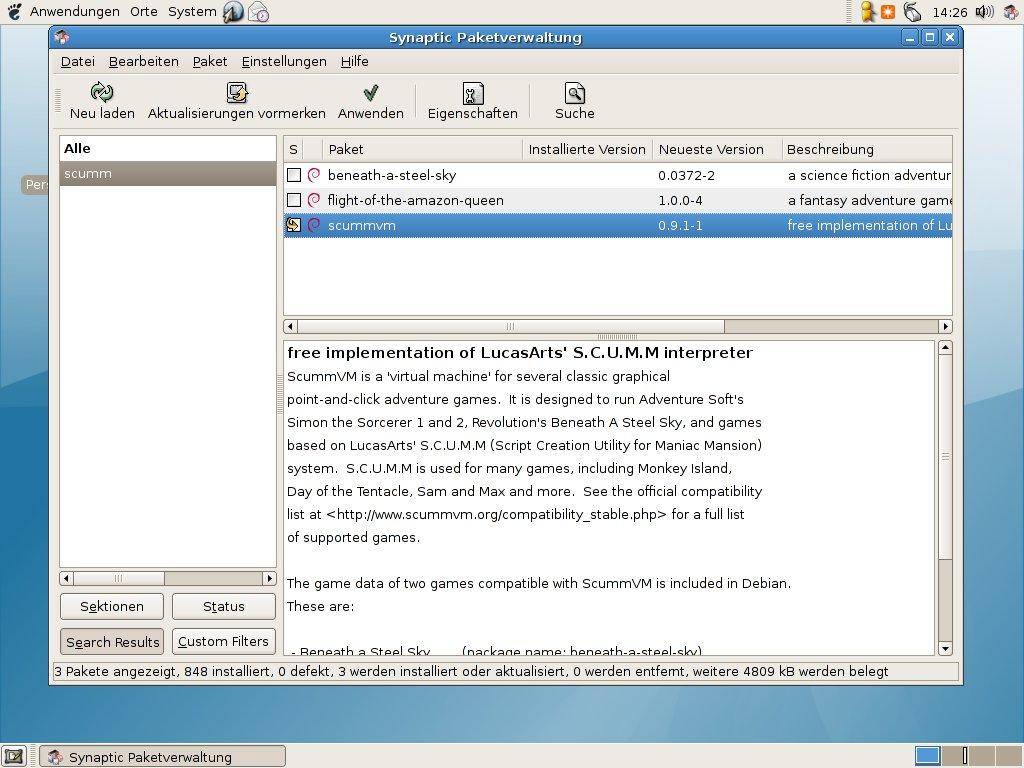 Wer welches Linux braucht - Grafische Paketverwaltung