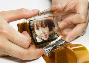 Biegsames OLED-Display von Sony