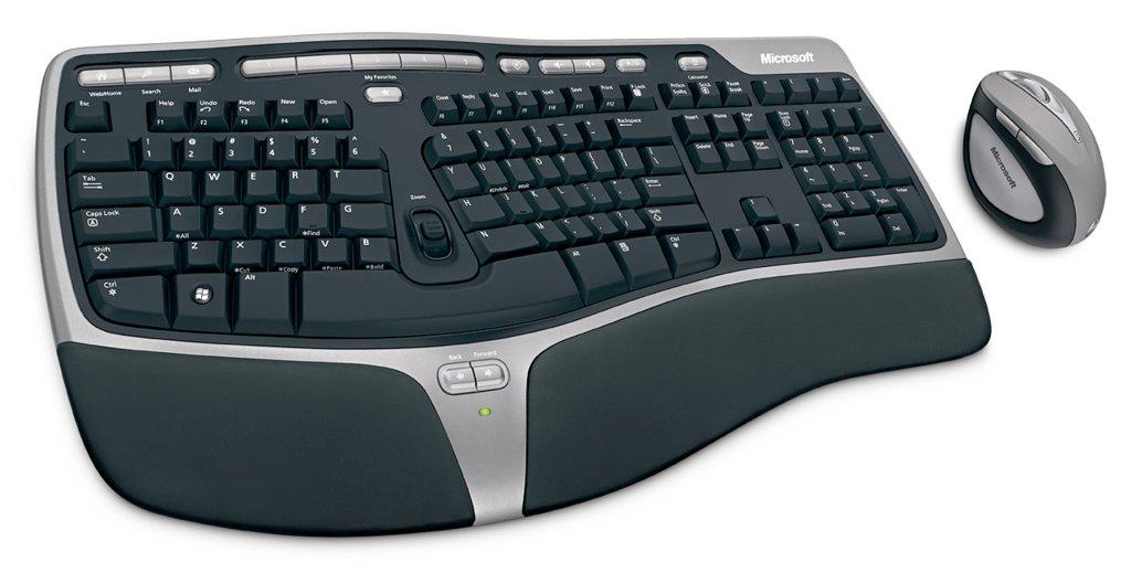 Ergonomische tastatur und maus  Ergonomische Funk-Tastatur-Maus-Kombo von Microsoft (Update ...