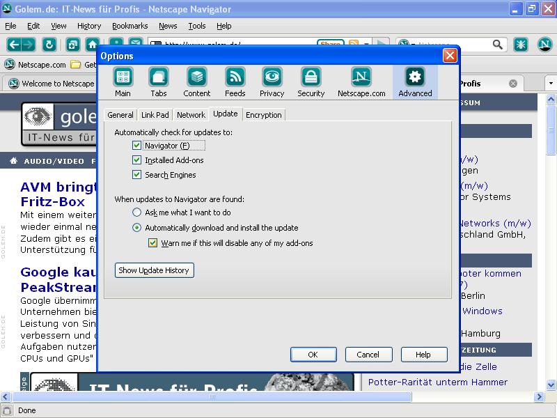 Erweiterbarer Netscape Navigator 9 ist fertig