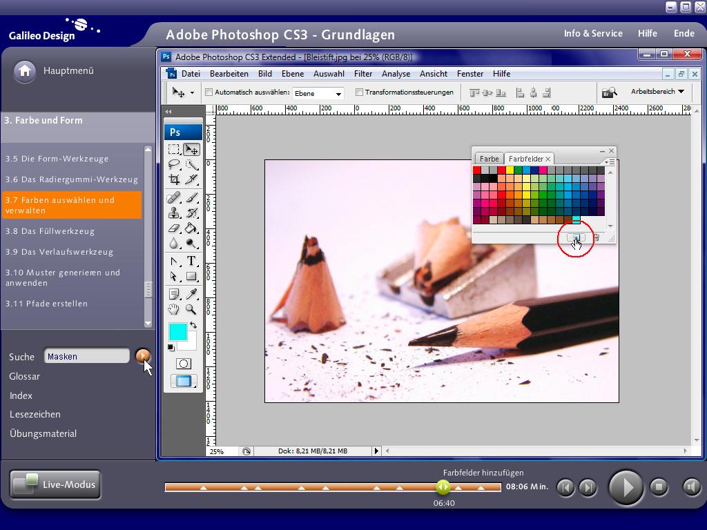 Kostenlose Video-Tutorials zu Photoshop CS3
