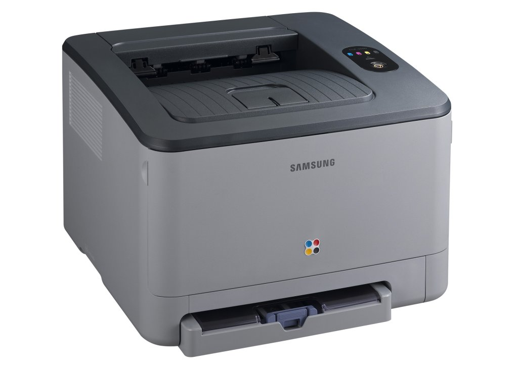 12 cm hoher Laserdrucker in Klavierlackoptik - Farblaserdrucker Samsung CLP-350N