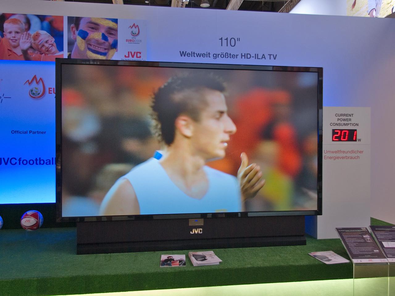 Rückpro-Fernseher von JVC mit Full-HD bis 110 Zoll