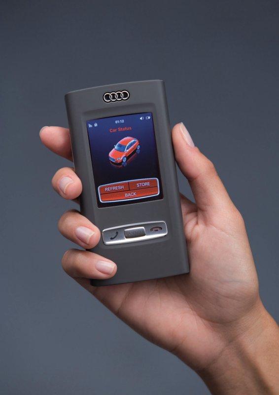 Audi-Studie: Handy, Fernsteuerung und Autoschlüssel in einem - Audi Mobile Device