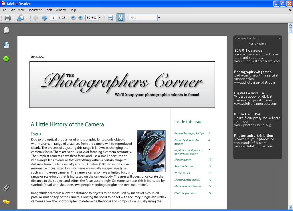 Adobe versieht PDF-Dateien mit Werbung - PDF mit Werbung