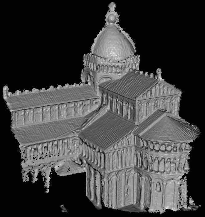 Forschungsprojekt erstellt 3D-Gebäude aus Flickr-Fotos - Dom von Pisa - 3D-Modell aus Flickr-Fotos erstellt