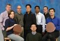 IBM-Forscher mit Test-Wafern