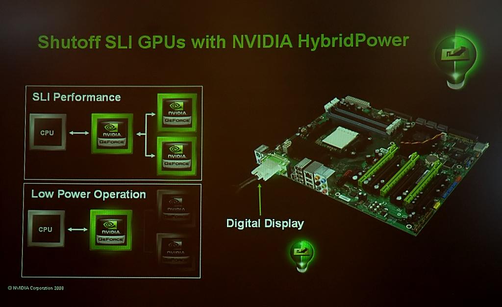Neue Nvidia-Chipsätze: Stromsparen mit Hybrid-SLI