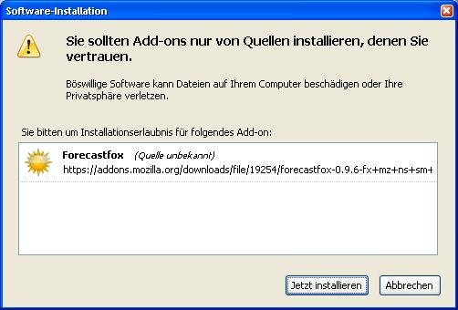 Firefox 3 Beta 3 steht zum Download bereit - Installatione eines Add-Ons