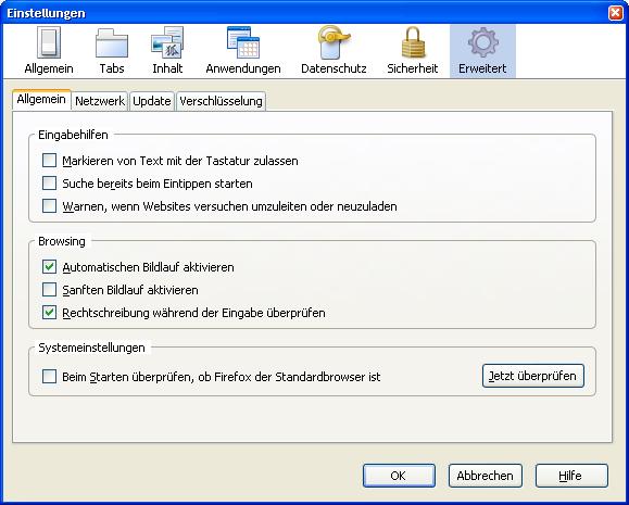 Firefox 3 Beta 3 steht zum Download bereit - Optionen