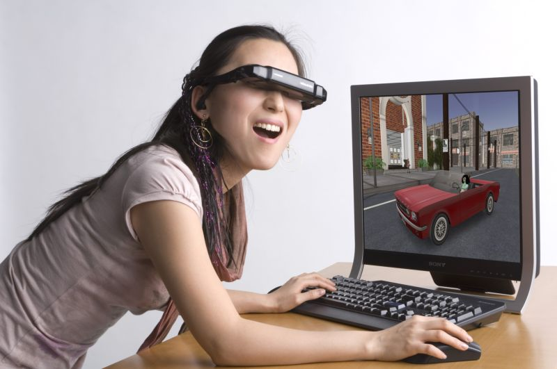 3D-Videobrille iWear VR920-C: Optisches 3D-Surround - iWear VR920-C von vuzix