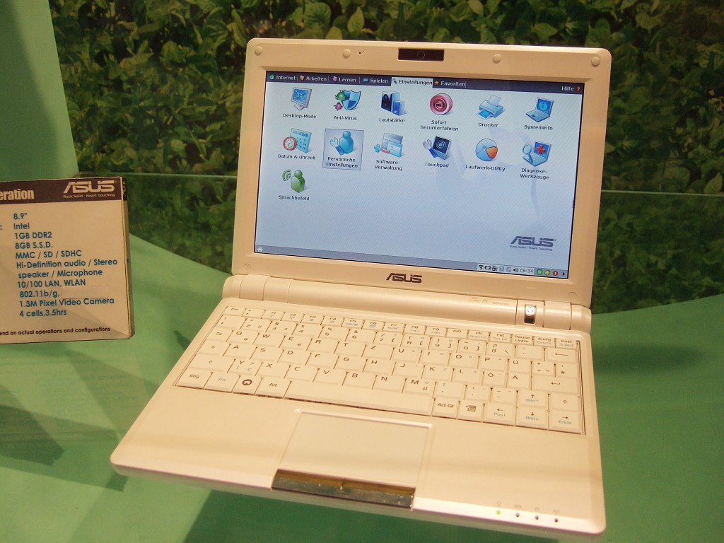 Eee-PC mit Windows XP und UMTS (Update) -