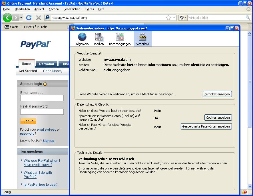 Firefox 3: Neue Beta-Version ist erschienen - Firefox 3 Beta 4