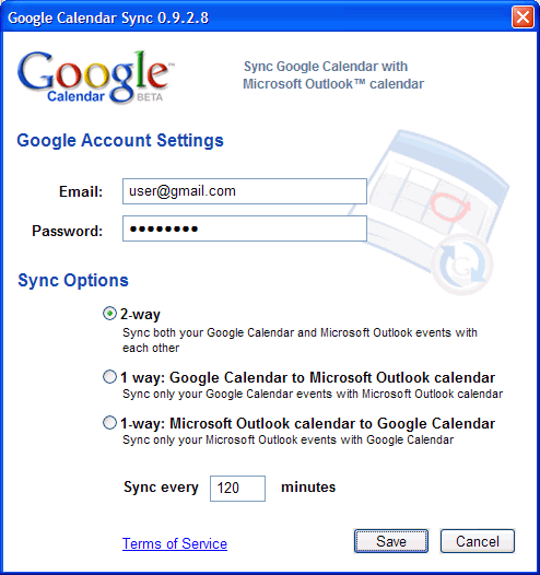 Google Kalender mit Outlook synchronisieren - Google Calendar Sync