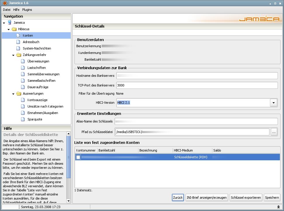 Onlinebanking Hibiscus 1.8 mit integriertem Backup -