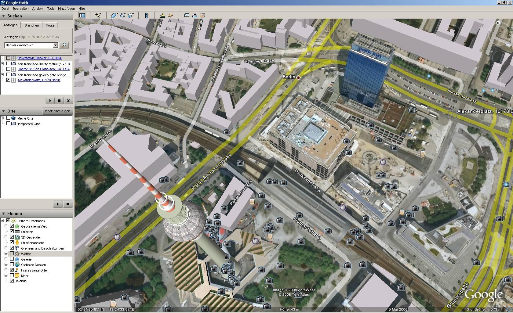 Und mehr 3d gebäude google earth 4 3 berlin alexanderplatz