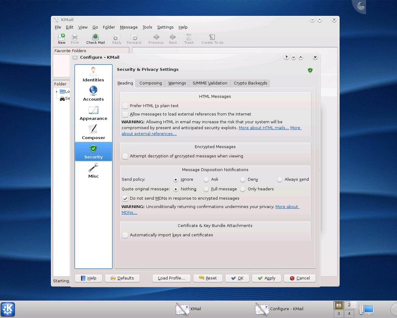 Erste Vorschau auf KDE 4.1 veröffentlicht - KMail in KDE 4.1