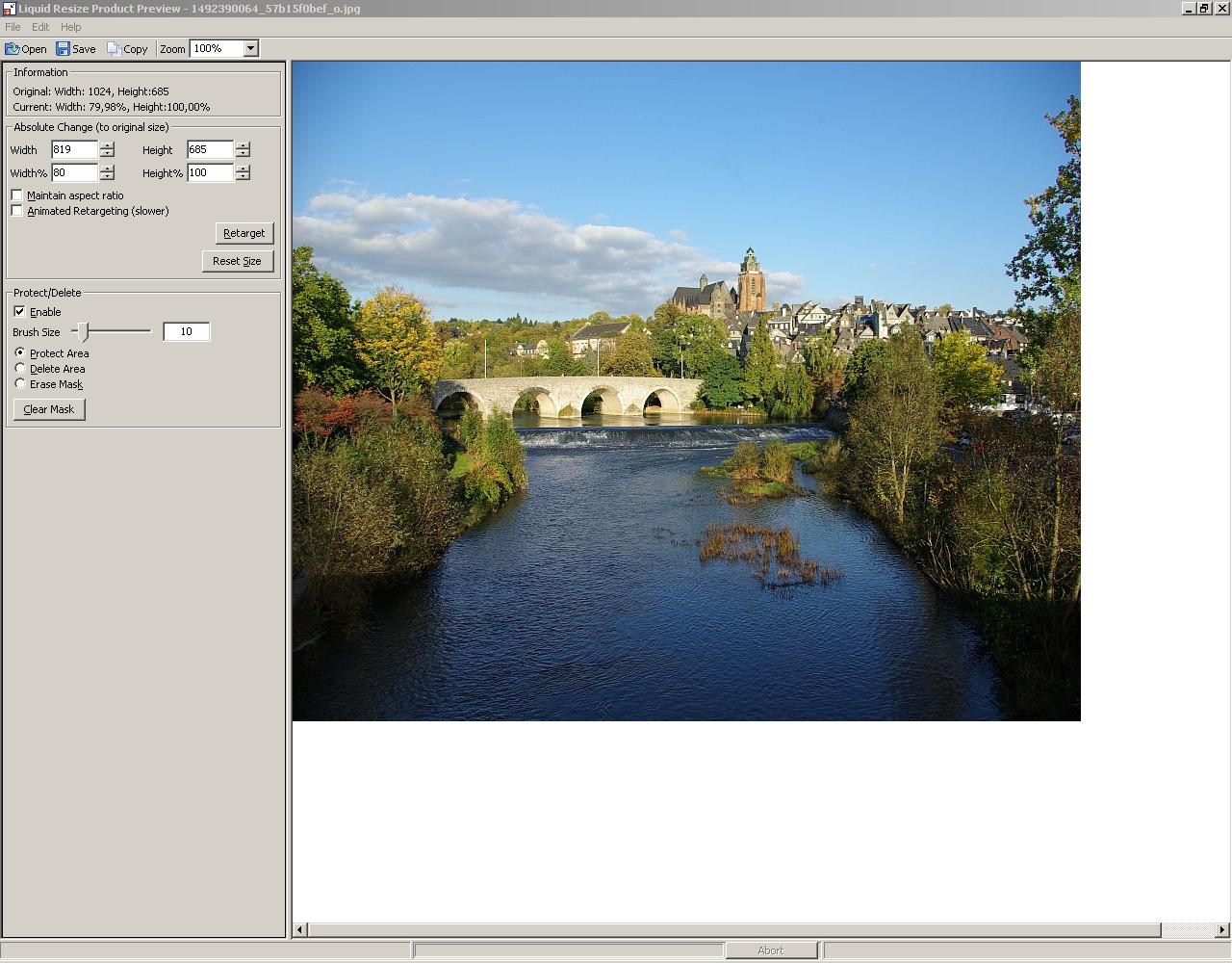 Bildabhängige Skalierungssoftware Liquid Resize als Beta - Foto: Andreas Donath